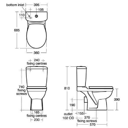 Ideal Standard Alto Eco Close Coupled Wc Suite