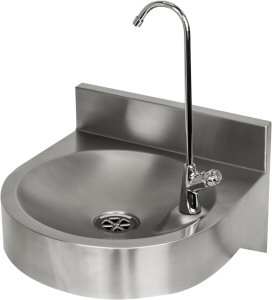 drinking fountain stainless steel with bottle filler wall mounted