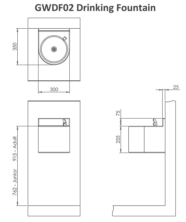 White grp wall mounted drinking fountain with undershroud ask a question about this product ccuart Image collections