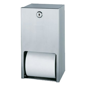 Satin Stainless Steel Twin Toilet Paper Holder