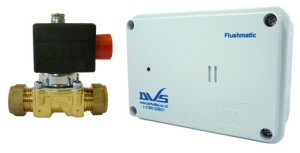 DVS Flushmatic with Battery Low Indicator - Wall Mounted PIR Sensor - uses AA batteries