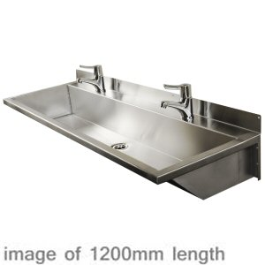 2400mm Stainless Steel Wash Trough Range B