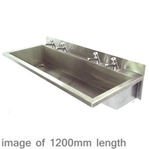 1200mm Wash Trough Model S Gentworks Stainless Steel