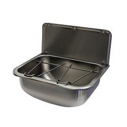 Stainless steel hand wash basins online uk gentworks for Metal bucket sink